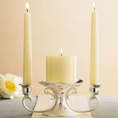 Lenox Opal Innocence Metal Unity Candle Holder
