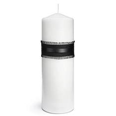 The Knot Colored Silk Unity Candle - Black