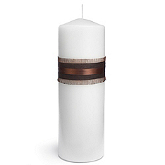 the knot colored silk unity candle - chocolate