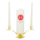 Modern Monogram Unity Candle Set