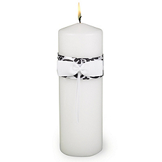 Enchanted Evening Unity Candle - Black