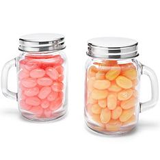 mini glass mason jar favor holder