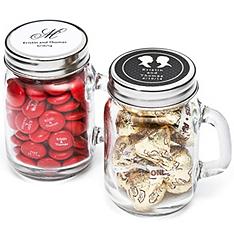 personalized mini glass mason jar favor holders